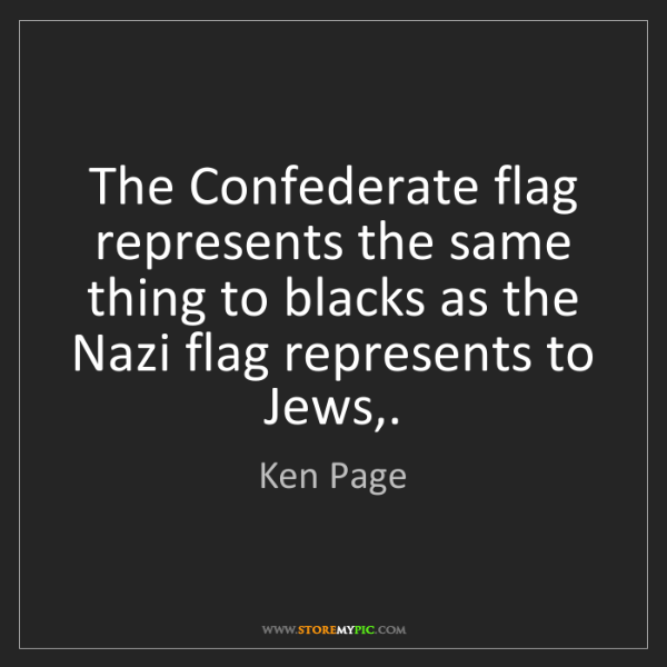 Ken Page: The Confederate flag represents the same thing to blacks...