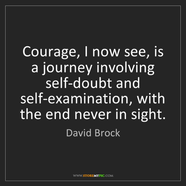 David Brock: Courage, I now see, is a journey involving self-doubt...