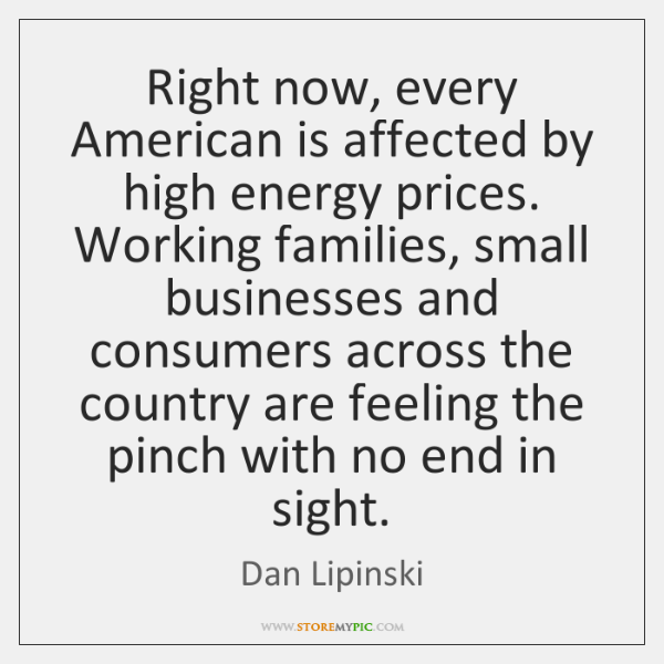 Right now, every American is affected by high energy prices. Working families, ...