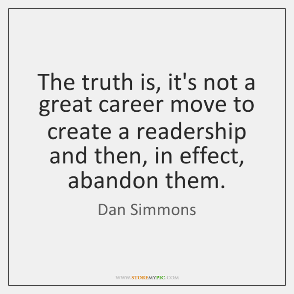 The truth is, it's not a great career move to create a ...