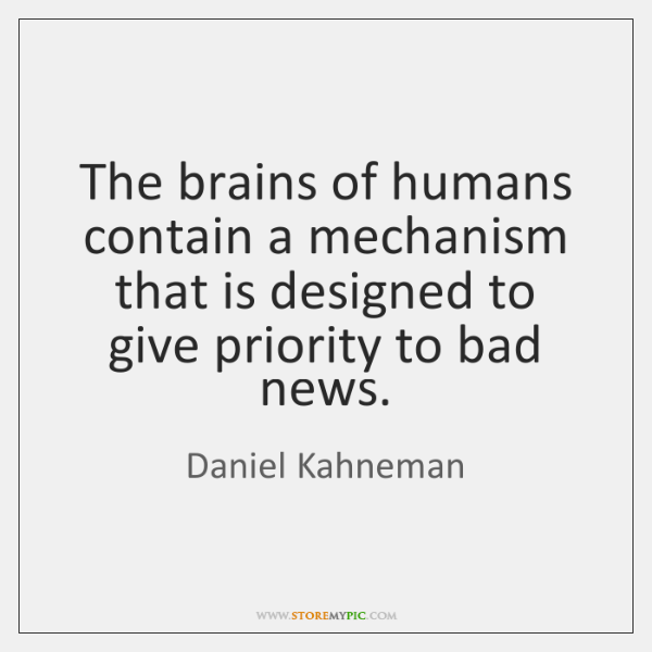The brains of humans contain a mechanism that is designed to give ...