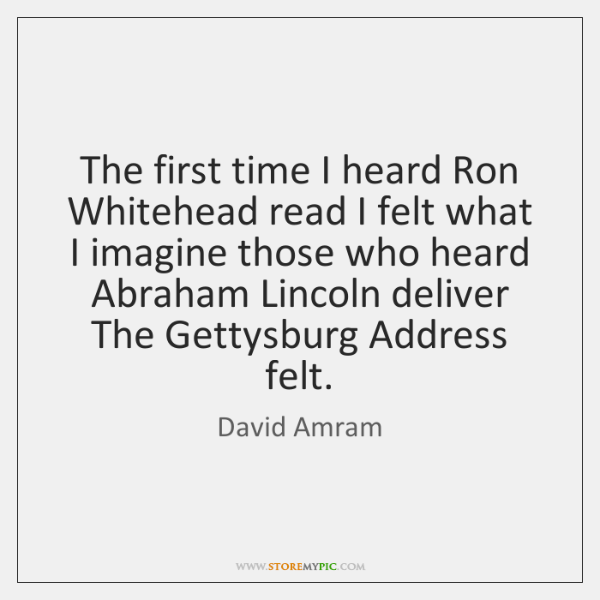 The first time I heard Ron Whitehead read I felt what I ...