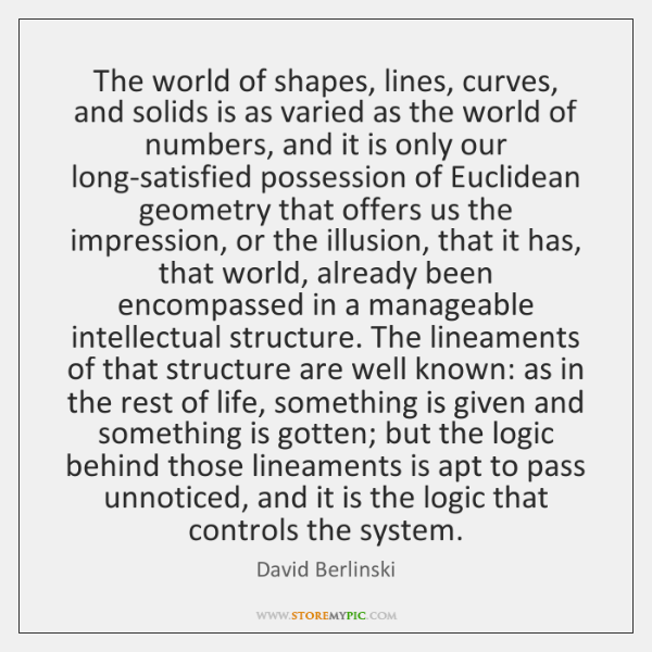 The world of shapes, lines, curves, and solids is as varied as ...