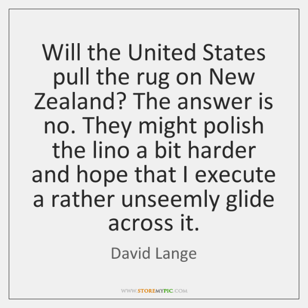 Will the United States pull the rug on New Zealand? The answer ...