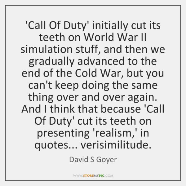 'Call Of Duty' initially cut its teeth on World War II simulation ...