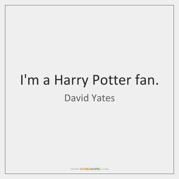I'm a Harry Potter fan.