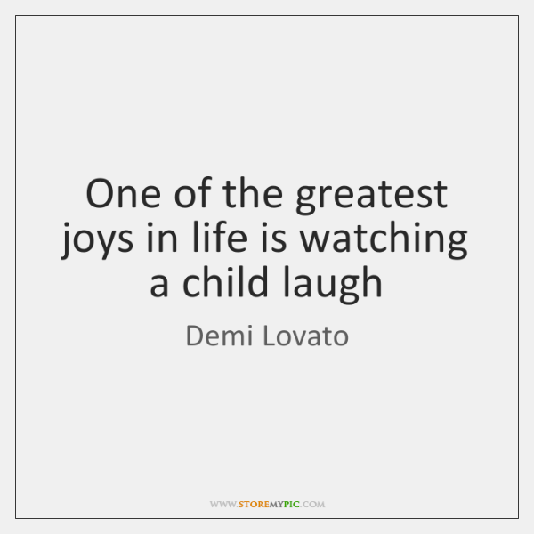 One of the greatest joys in life is watching a child laugh