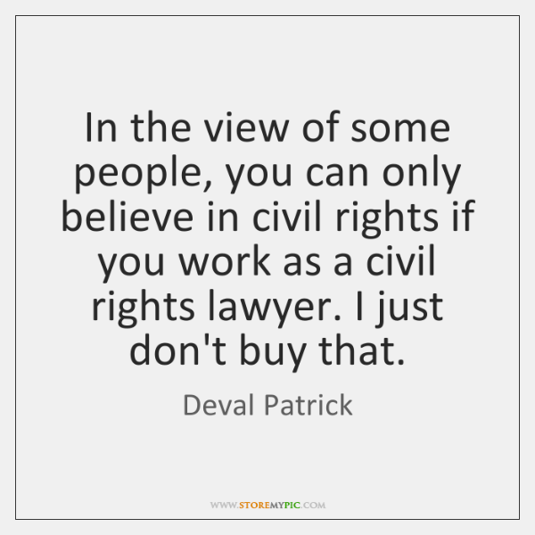 In the view of some people, you can only believe in civil ...