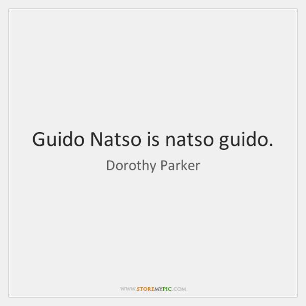 Guido Natso is natso guido.