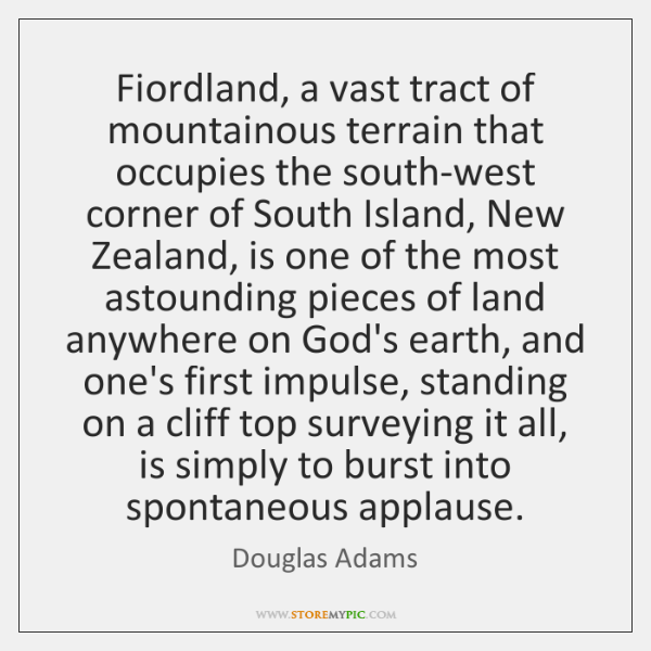 Fiordland, a vast tract of mountainous terrain that occupies the south-west corner ...