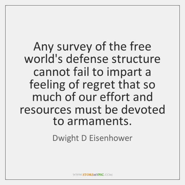 Any survey of the free world's defense structure cannot fail to impart ...