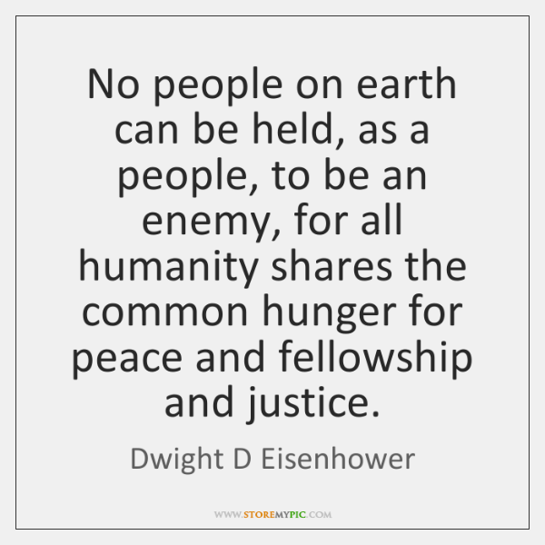 No people on earth can be held, as a people, to be ...