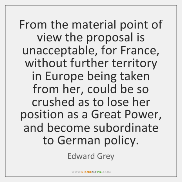 From the material point of view the proposal is unacceptable, for France, ...