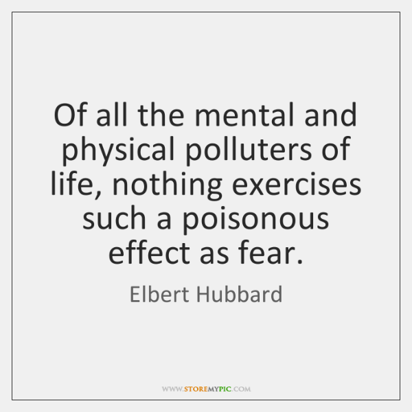 Of all the mental and physical polluters of life, nothing exercises such ...