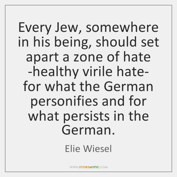 Every Jew, somewhere in his being, should set apart a zone of ...