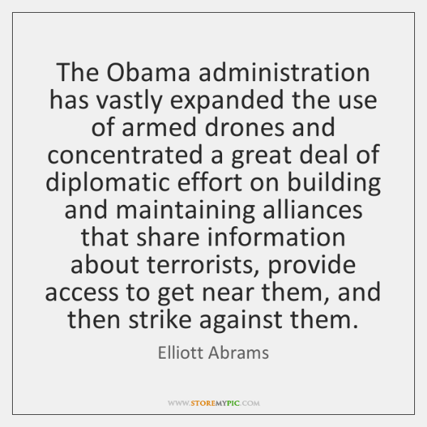 The Obama administration has vastly expanded the use of armed drones and ...