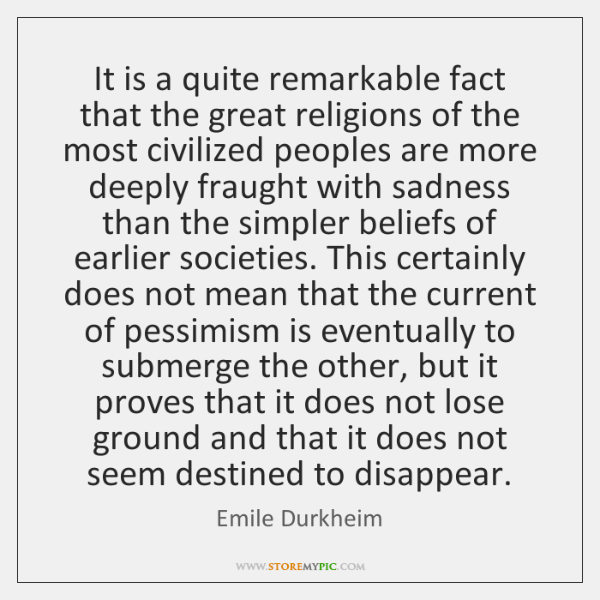 It is a quite remarkable fact that the great religions of the ...