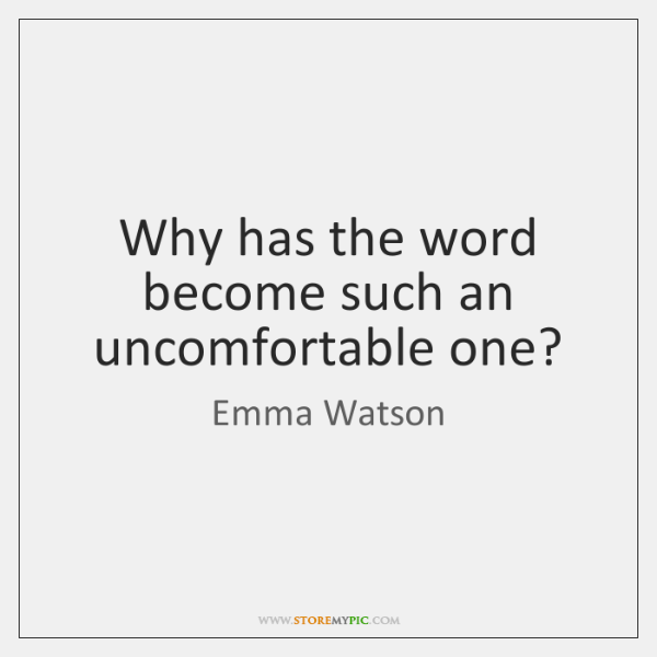 Why has the word become such an uncomfortable one?