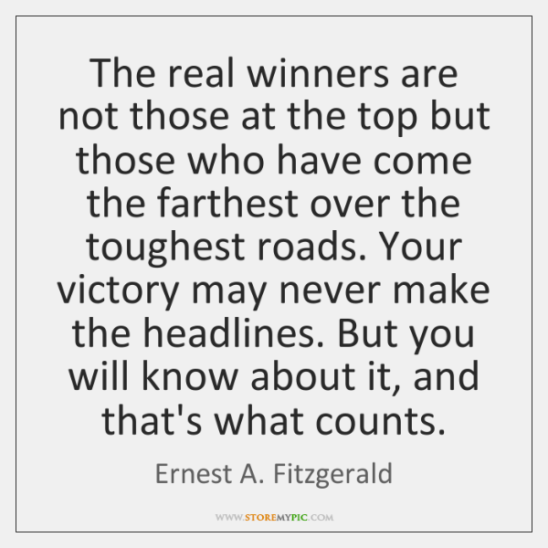 The real winners are not those at the top but those who ...