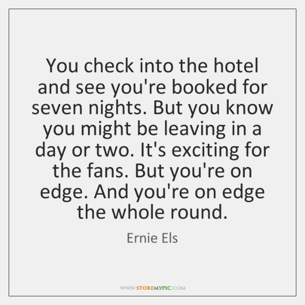 You check into the hotel and see you're booked for seven nights. ...