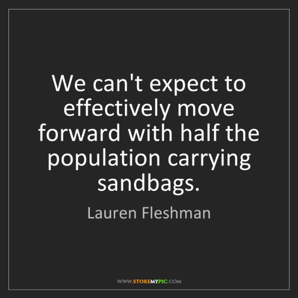 Lauren Fleshman: We can't expect to effectively move forward with half...