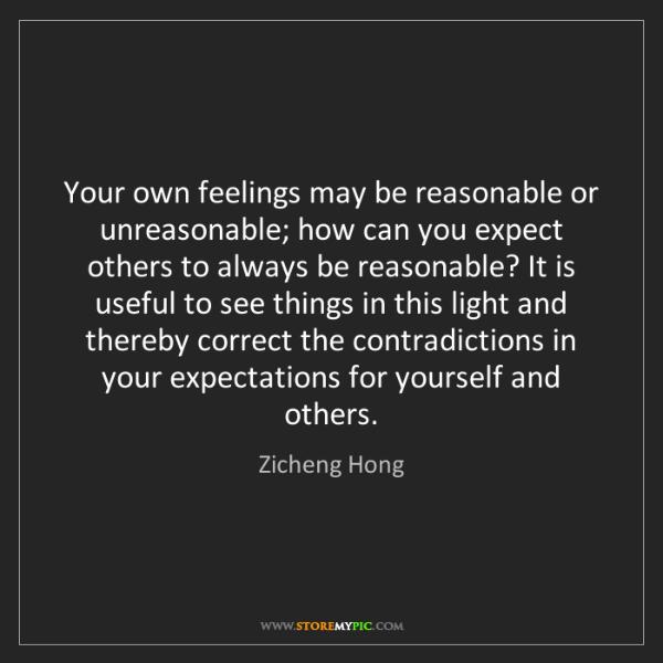 Zicheng Hong: Your own feelings may be reasonable or unreasonable;...