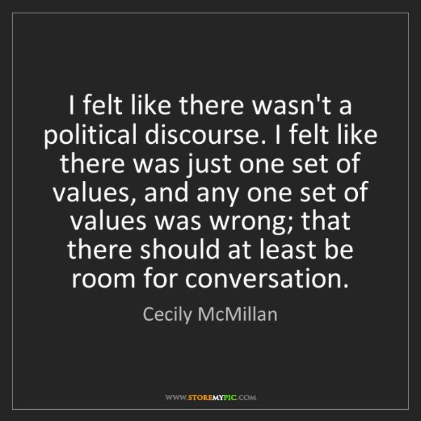 Cecily McMillan: I felt like there wasn't a political discourse. I felt...