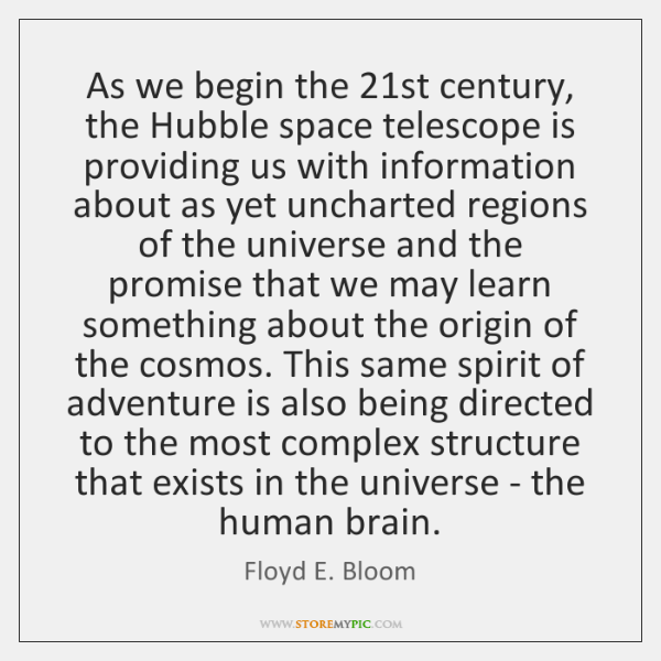As we begin the 21st century, the Hubble space telescope is providing ...