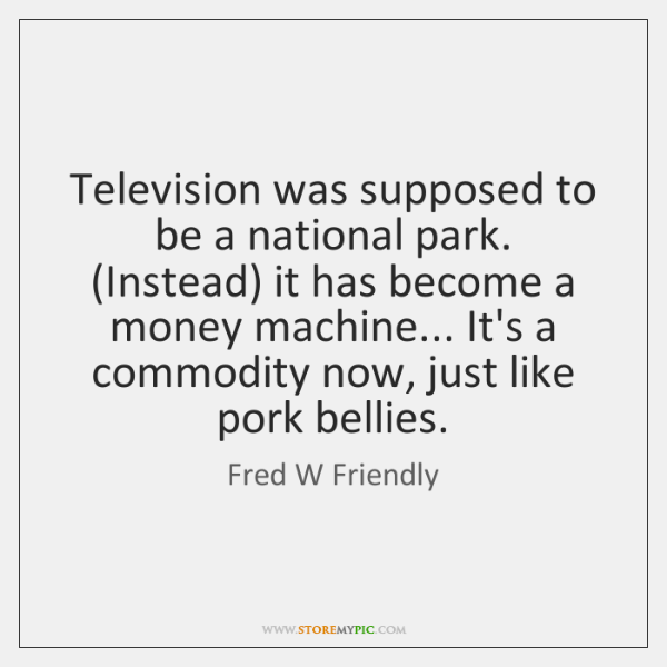 Television was supposed to be a national park. (Instead) it has become ...