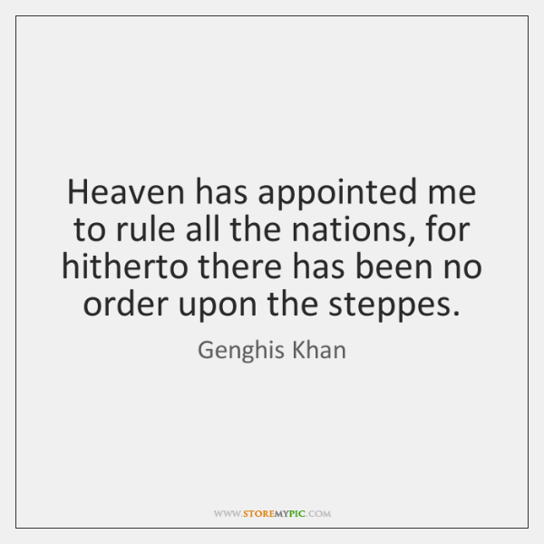 Genghis Khan Quotes Storemypic