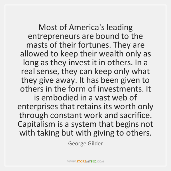 Most of America's leading entrepreneurs are bound to the masts of their ...