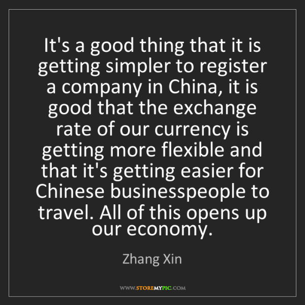 Zhang Xin: It's a good thing that it is getting simpler to register...