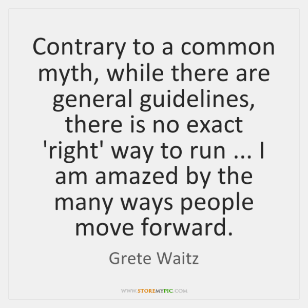 Contrary to a common myth, while there are general guidelines, there is ...