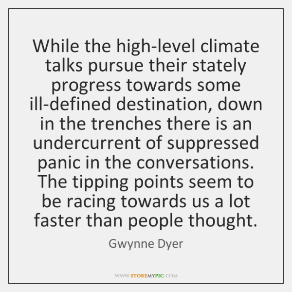 While the high-level climate talks pursue their stately progress towards some ill-defined ...