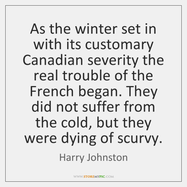 As the winter set in with its customary Canadian severity the real ...