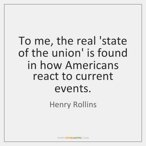 To me, the real 'state of the union' is found in how ...