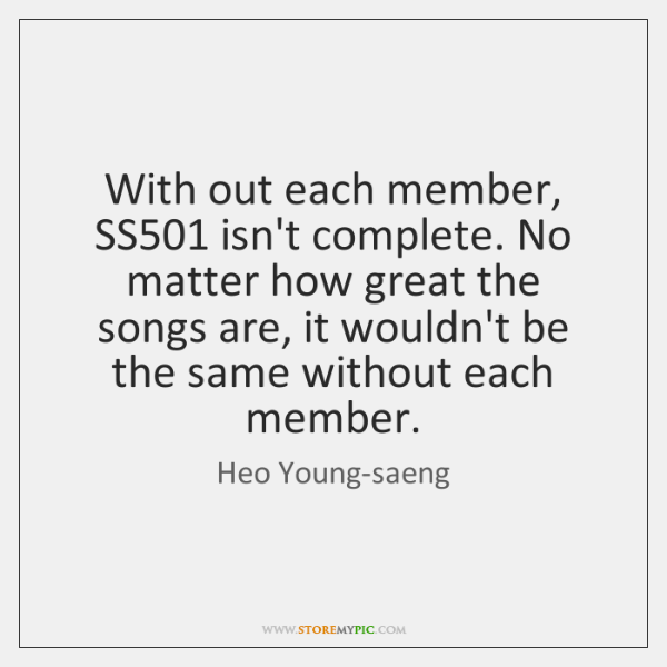With out each member, SS501 isn't complete. No matter how great the ...
