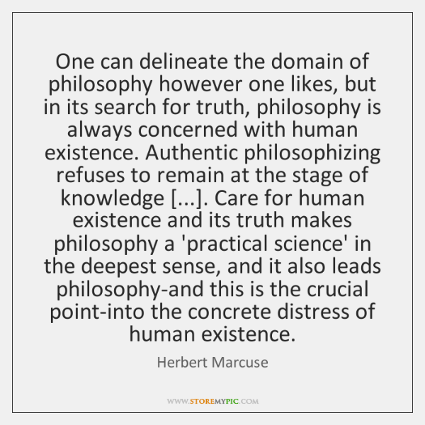 One can delineate the domain of philosophy however one likes, but in ...