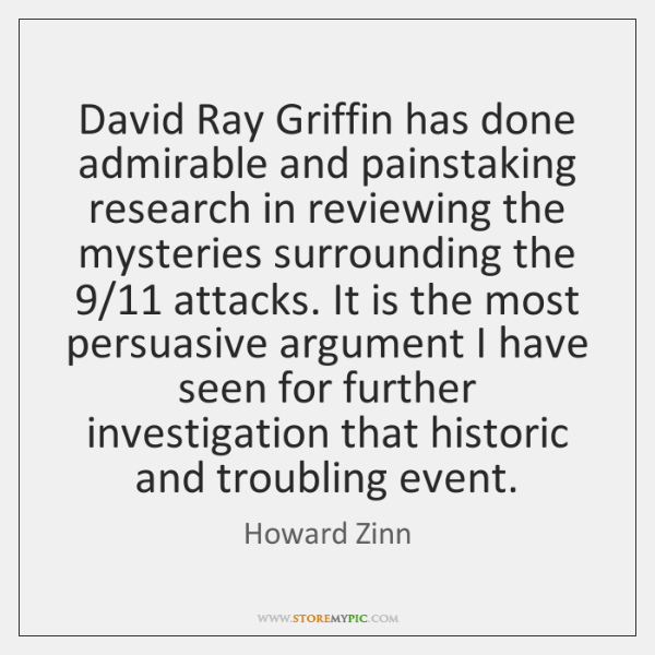 David Ray Griffin has done admirable and painstaking research in reviewing the ...