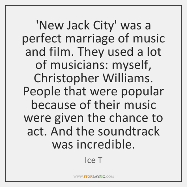 'New Jack City' was a perfect marriage of music and film. They ...