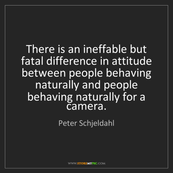 Peter Schjeldahl: There is an ineffable but fatal difference in attitude...