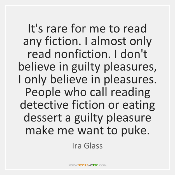It's rare for me to read any fiction. I almost only read ...