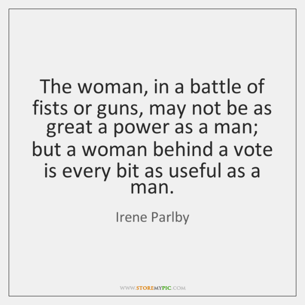 The woman, in a battle of fists or guns, may not be ...