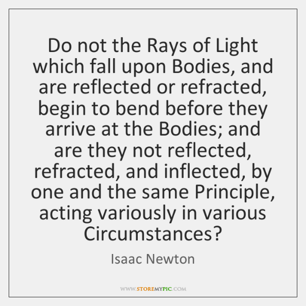 Do not the Rays of Light which fall upon Bodies, and are ...