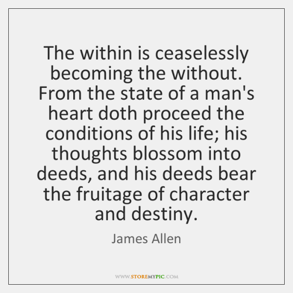 The within is ceaselessly becoming the without. From the state of a ...