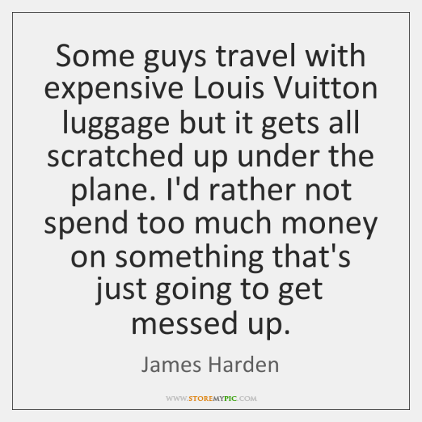 Some guys travel with expensive Louis Vuitton luggage but it gets all ...