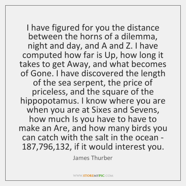 I have figured for you the distance between the horns of a ...