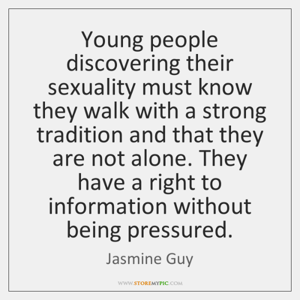 Young people discovering their sexuality must know they walk with a strong ...