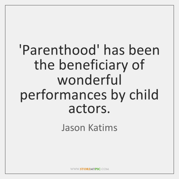 'Parenthood' has been the beneficiary of wonderful performances by child actors.