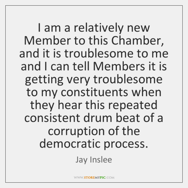 I am a relatively new Member to this Chamber, and it is ...